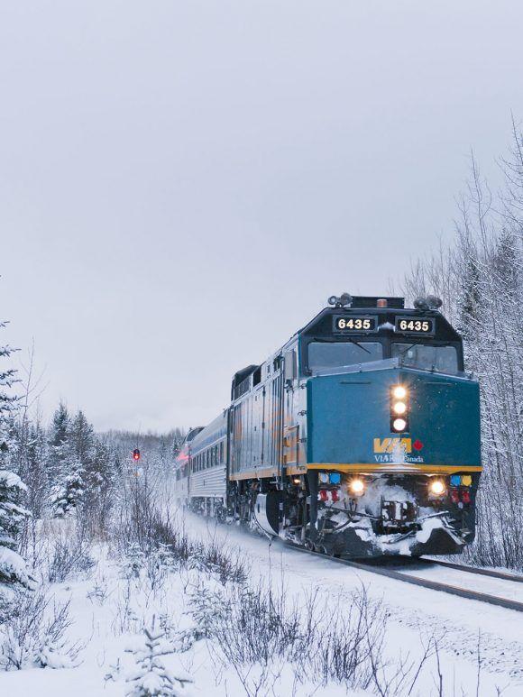 Voyage en Train au Canada