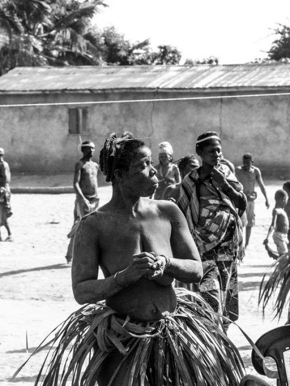 Cérémonie Vaudou dans le village de Vakpo