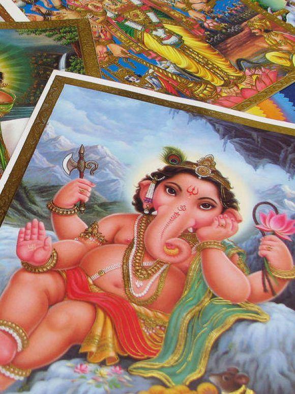 Dieux de l'Inde, images et signes